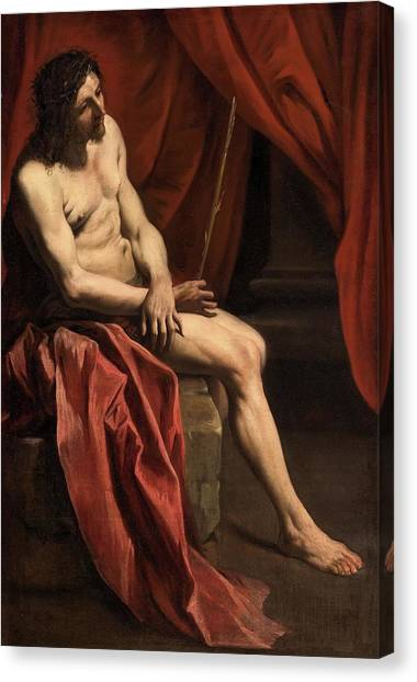 Christ Mocked Canvas Print