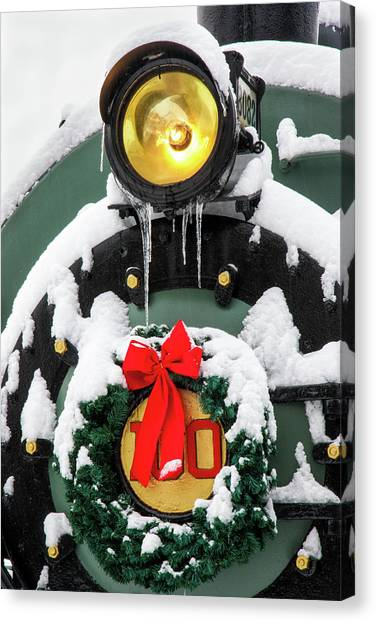 Christmas Train At Pacific Junction Canvas Print