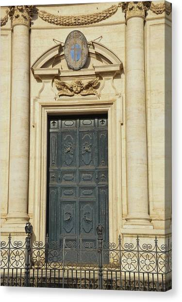 Church Entry Canvas Print by JAMART Photography