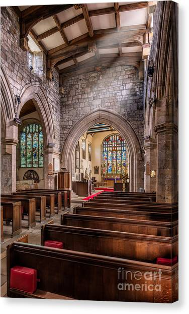 Beam Canvas Print - Church Light by Adrian Evans
