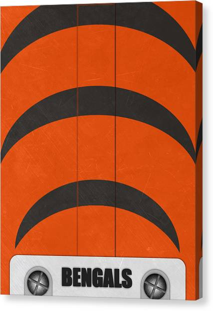 Cincinnati Bengals Canvas Print - Cincinnati Bengals Helmet Art by Joe Hamilton