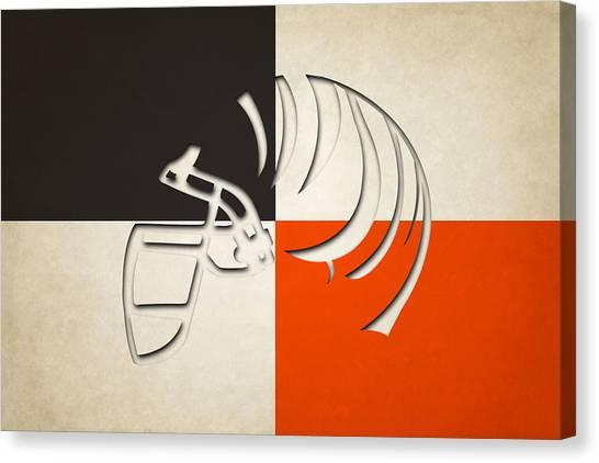Cincinnati Bengals Canvas Print - Cincinnati Bengals Helmet by Joe Hamilton