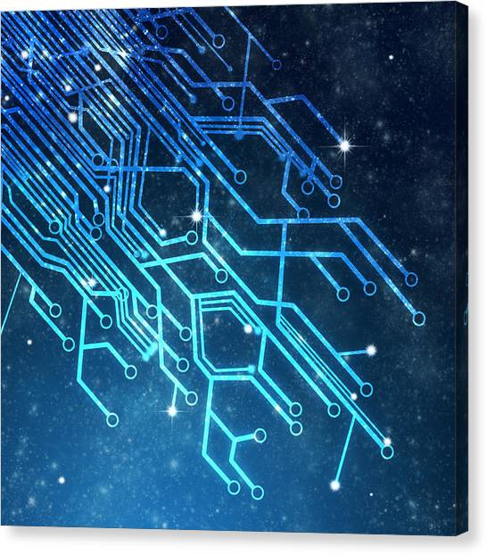 Computer Science Canvas Print - Circuit Board Technology by Setsiri Silapasuwanchai