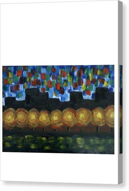 City Lights Canvas Print by Aida Behani