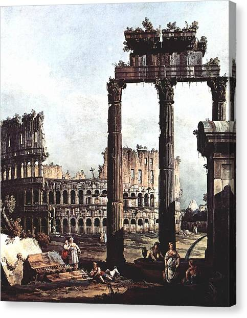 The Colosseum Canvas Print - City by MotionAge Designs
