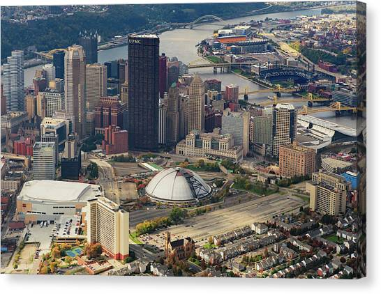 Pittsburgh Penguins Canvas Print - City Of Champions  by Emmanuel Panagiotakis