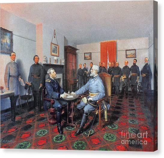 American Presidents Canvas Print - Civil War: Appomattox, 1865 by Granger