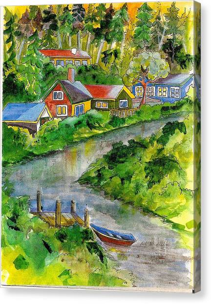 Clallam River Canvas Print by KC Winters