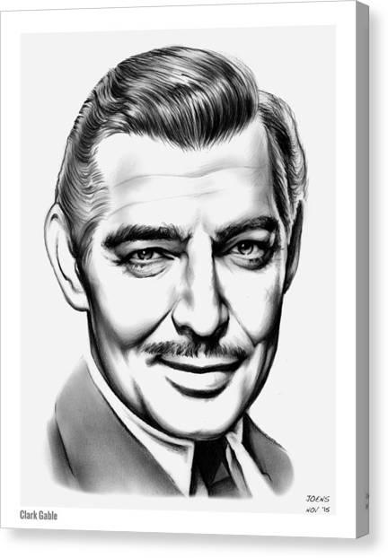 Hollywood Canvas Print - Clark Gable by Greg Joens