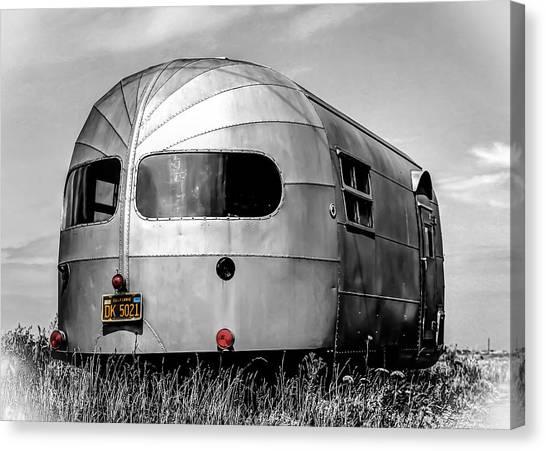 Silver Canvas Print - Classic Airstream Caravan by Ian Hufton