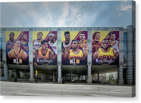Kyrie Irving Canvas Print - Cle_ All In  by Michael Rankin