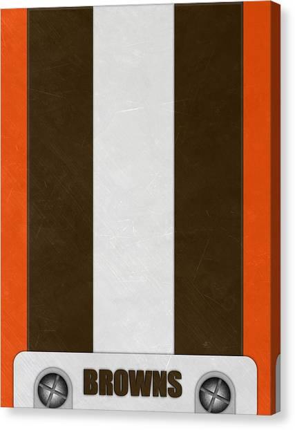 Cleveland Browns Canvas Print - Cleveland Browns Helmet Art by Joe Hamilton