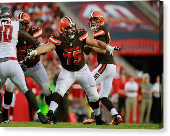Football Teams Canvas Print - Cleveland Browns by Super Lovely