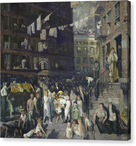 Immigration Canvas Print - Cliff Dwellers by George Wesley Bellows