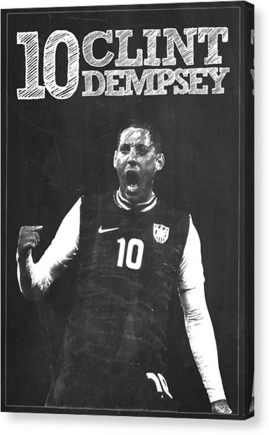Seattle Sounders Fc Canvas Print - Clint Dempsey by Semih Yurdabak