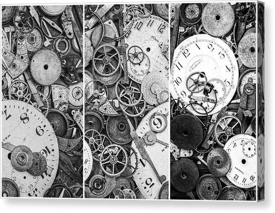 Metallic Canvas Print - Clockworks Still Life by Tom Mc Nemar