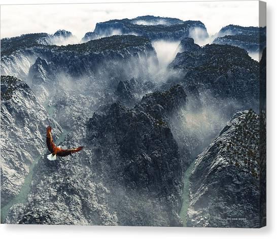 Cloud Canyon Canvas Print by Jim Coe