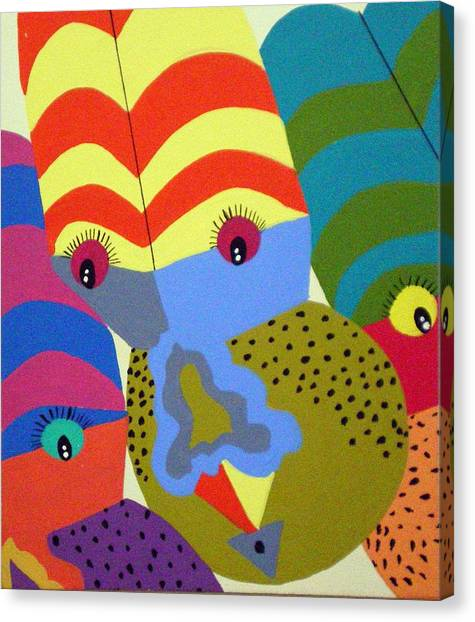 Clowns Canvas Print by Tammera Malicki-Wong