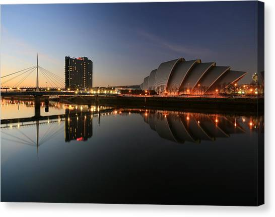 Clydeside Reflections  Canvas Print