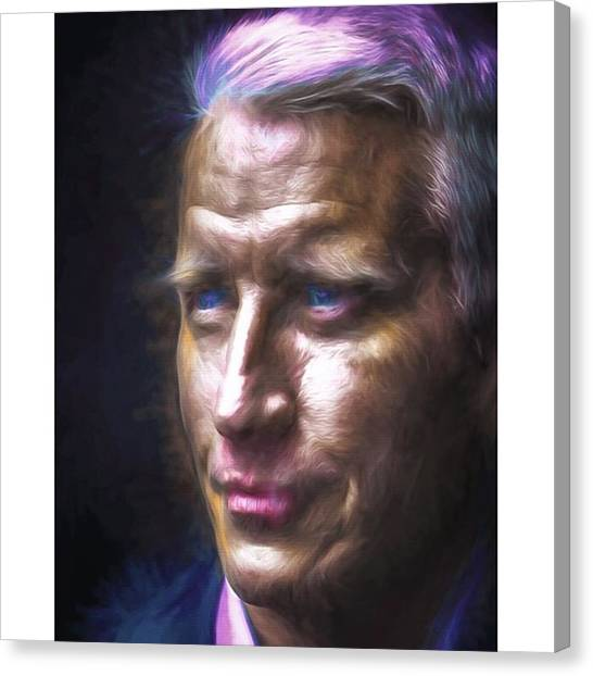 Famous Artists Canvas Print - #cnn @cnn #andersoncooper #vanderbuilt by David Haskett