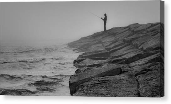 Coastal Solitude Canvas Print by James Woody
