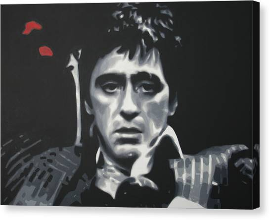 Scarface Canvas Print - Cocaine 2013 by Luis Ludzska