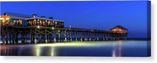 Cocoa Beach Pier At Twilight Canvas Print