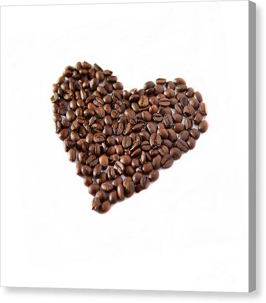 Coffee Heart Canvas Print