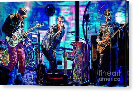 Coldplay Canvas Print - Coldplay Collection Chris Martin by Marvin Blaine