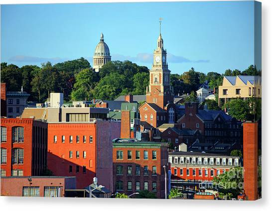 Brown University Canvas Print - College Hill, Providence by Denis Tangney Jr