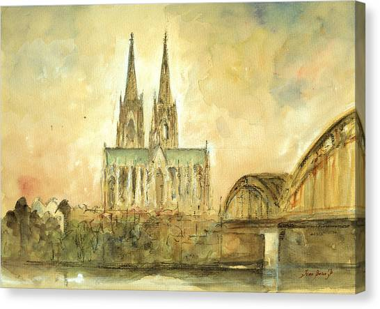 Cathedrals Canvas Print - Cologne Cathedral by Juan  Bosco