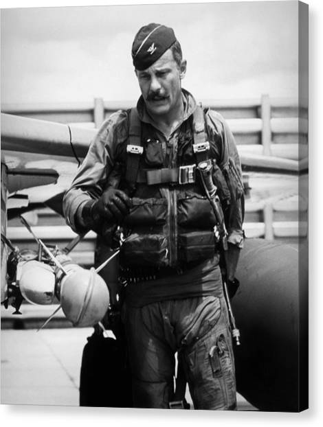 Vietnam War Canvas Print - Colonel Robin Olds by War Is Hell Store