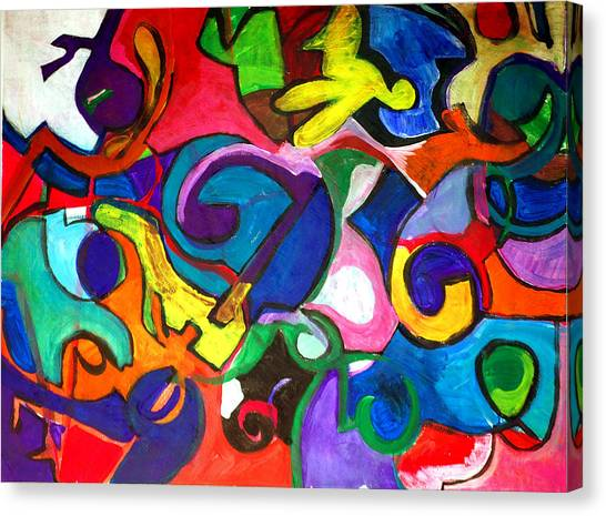 Color Shape Study Canvas Print by Jame Hayes