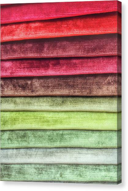 Clothing Store Canvas Print - Colorful Textiles Background by Tom Gowanlock