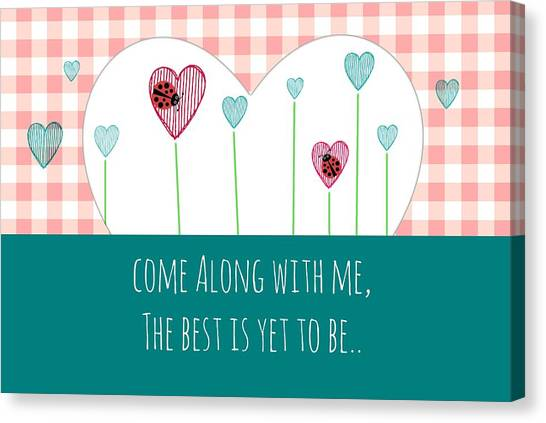 Spring Canvas Print - Come Along With Me by Chastity Hoff
