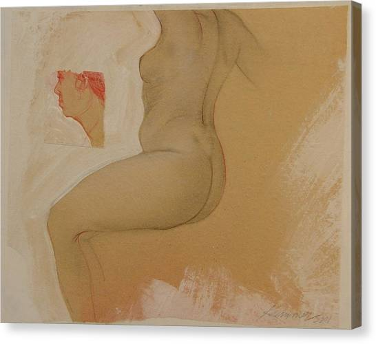 Composite Female Nude Canvas Print by Gary Kaemmer