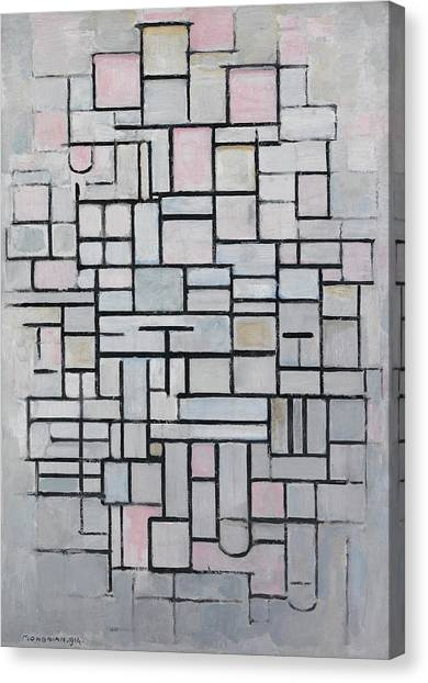De Stijl Canvas Print - Composition Iv by Piet Mondrian