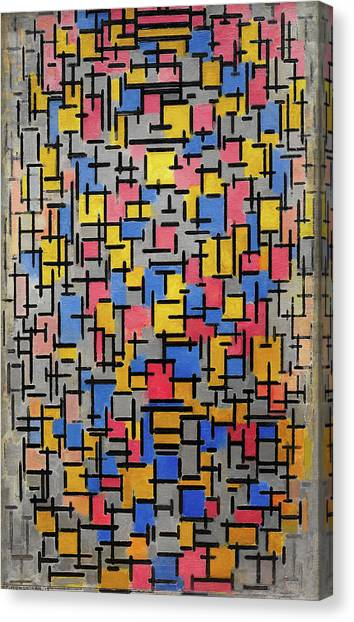 De Stijl Canvas Print - Composition by Piet Mondrian