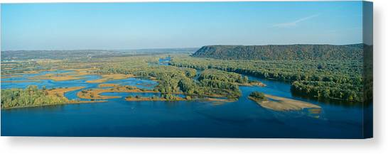 Landform Canvas Print - Confluence Of Mississippi And Wisconsin by Panoramic Images