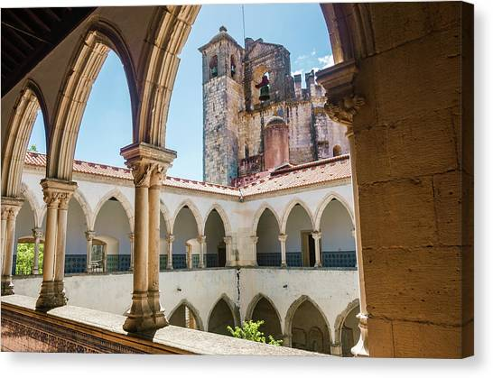 Romanesque Art Canvas Print - Convent Of Christ In Tomar by Carlos Caetano