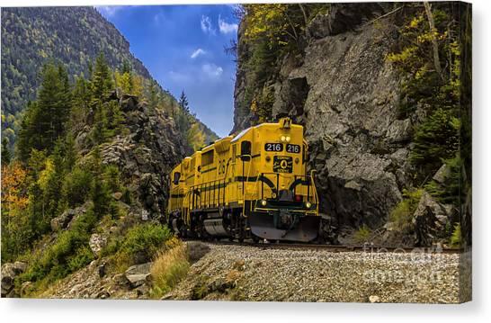 Conway Scenic Railroad Notch Train. Canvas Print