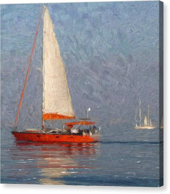 Cool Water Canvas Print by Lynn Berkeley