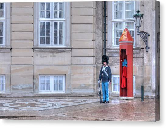 Royal Guard Canvas Print - Copenhagen - Denmark by Joana Kruse