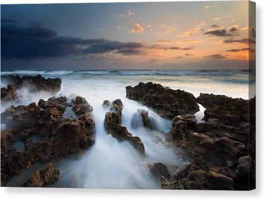 Rock Canvas Print - Coral Cove Dawn by Mike  Dawson