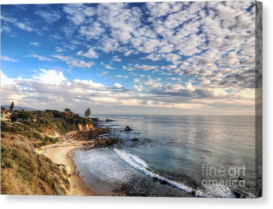 Corona Del Mar Shoreline Canvas Print
