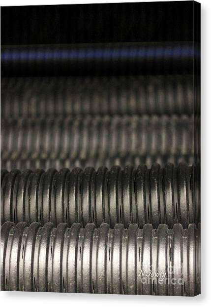 Corrugated Drain Pipe-deep Canvas Print