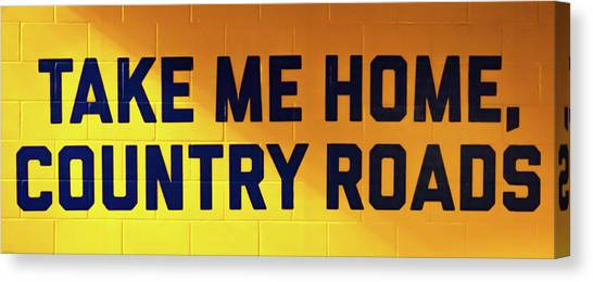 West Virginia University Wvu Canvas Print - Country Roads by Aaron Geraud