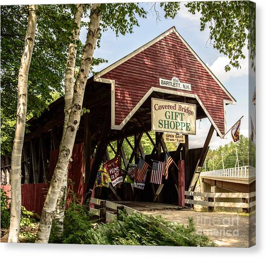 Covered Bridge Gift Shoppe Canvas Print
