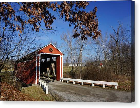 Canvas Print - Covered Bridge by Red Cross