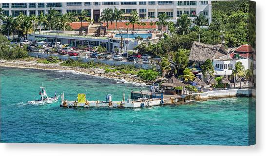 Carribbean Canvas Print - Cozumel Coastline  by Betsy Knapp
